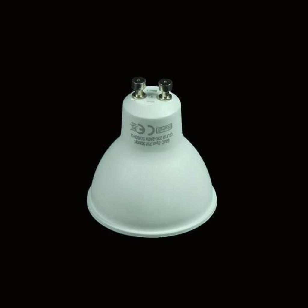Dicroica led 7w gu10 bombilla luz c lida neutra o blanca for Luz blanca o calida