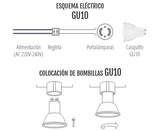 Esquema eléctrico GU10
