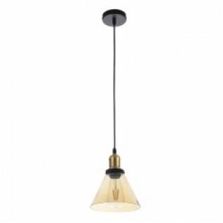 lámpara colgante  KIOTO cono Ambar