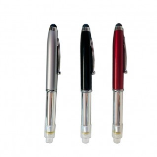 Bolígrafo con led y tapón táctil para tablets