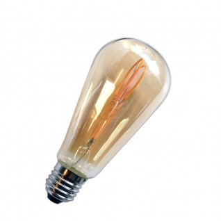 Bombilla de filamento led 5W E27 ambar
