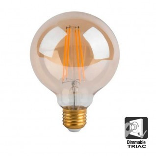 Bombilla LED Filamento Vintage 7W E27 G125 - Dimmable