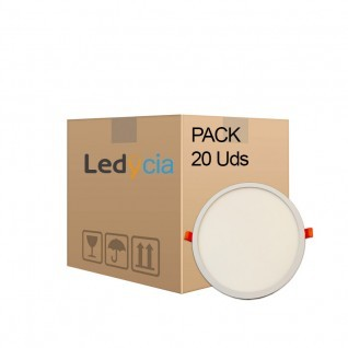 Pack 20 downlights led 24W alta luminosidad