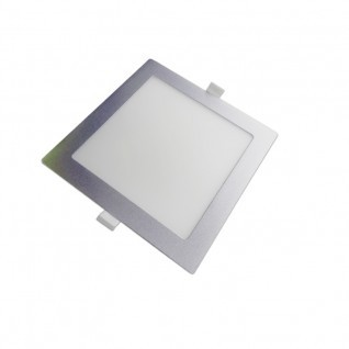 Downlight led cuadrado plata  18W
