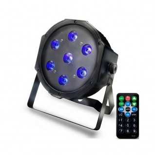 Foco PAR LED 28W DMX Luz UV - Luz Negra - Ultravioleta - con mando