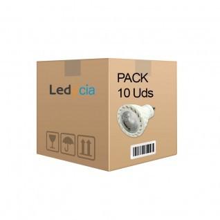 Pack 10 ud bombillas gu10 7W cob