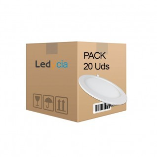 Pack 20 ud placas ultrafinas 18W