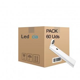 Pack 60 soportes para 1 tubo led t8 120cm