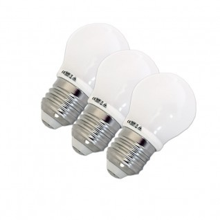 Pack ahorro 3 Bombillas led 3W E27 G45