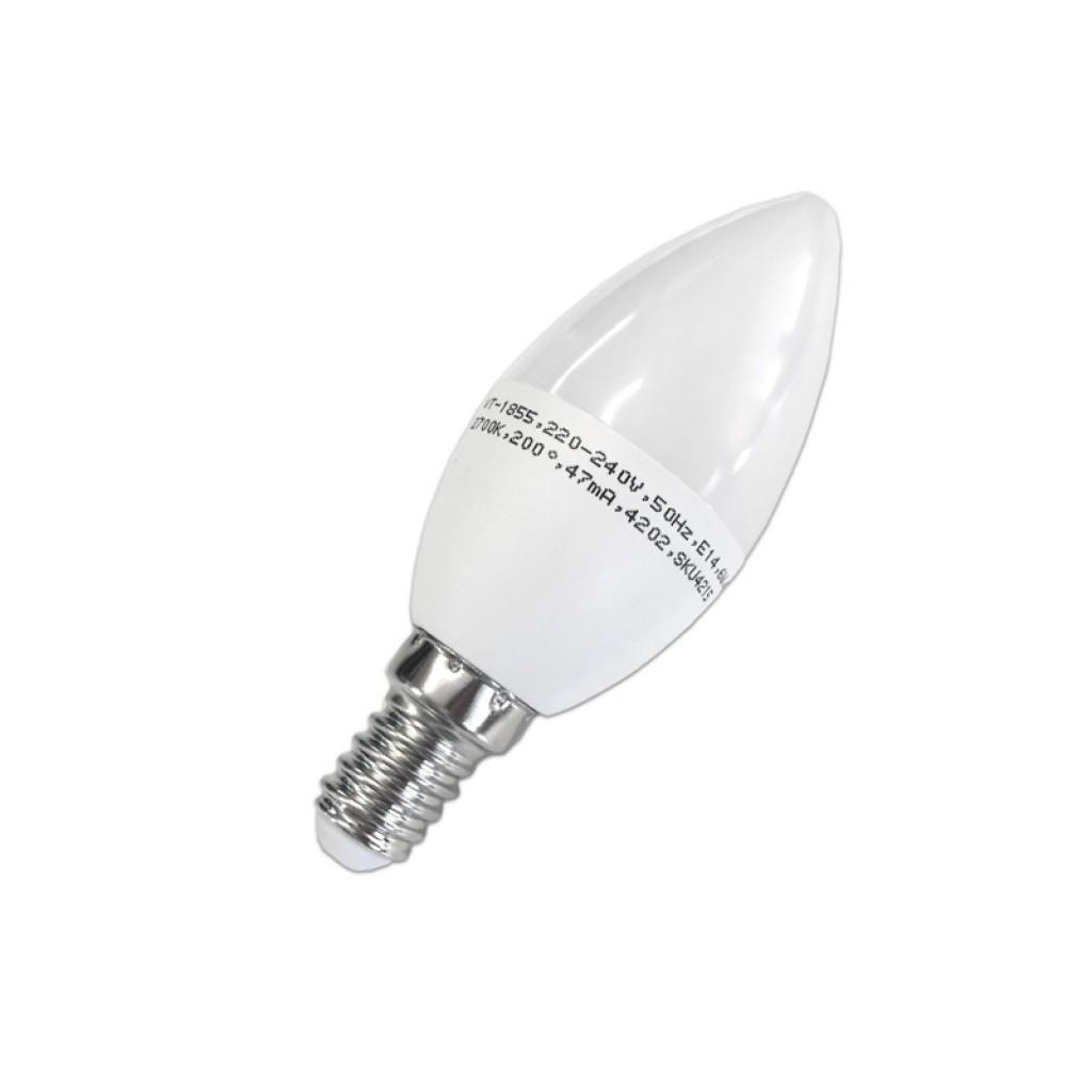 Bombilla led vela 4w e14 370 l menes luz blanca o c lida for Luz blanca o calida