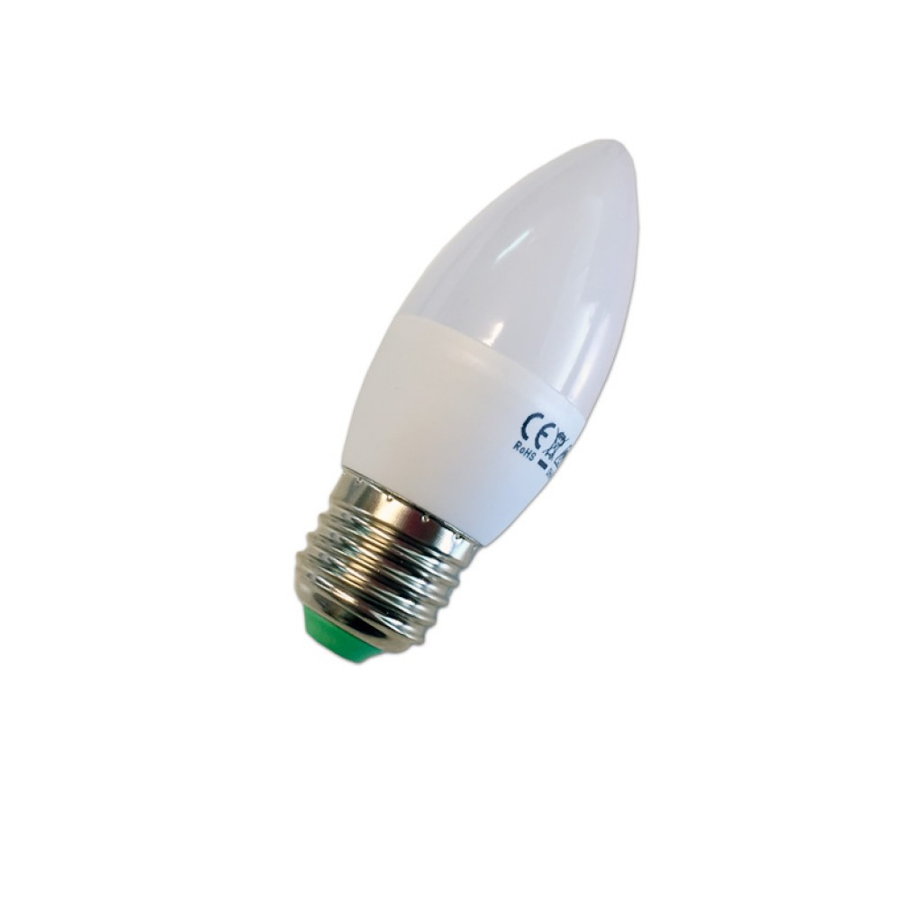 Bombilla Luz Cálida Vela Blanca Y Led E27 Lúmenes 550 6w m8vNnw0O