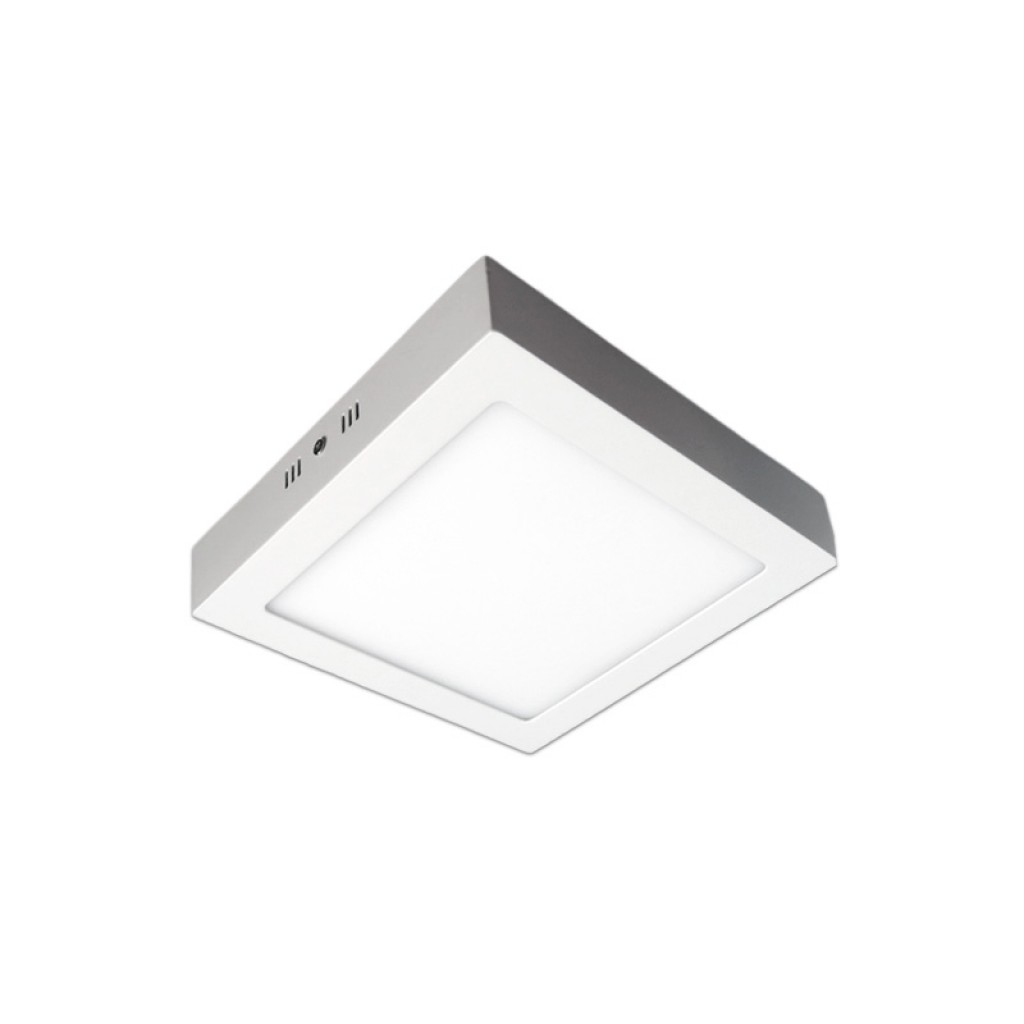 Plaf n led cuadrado18w luz c lida neutra o blanca for Luz blanca o calida