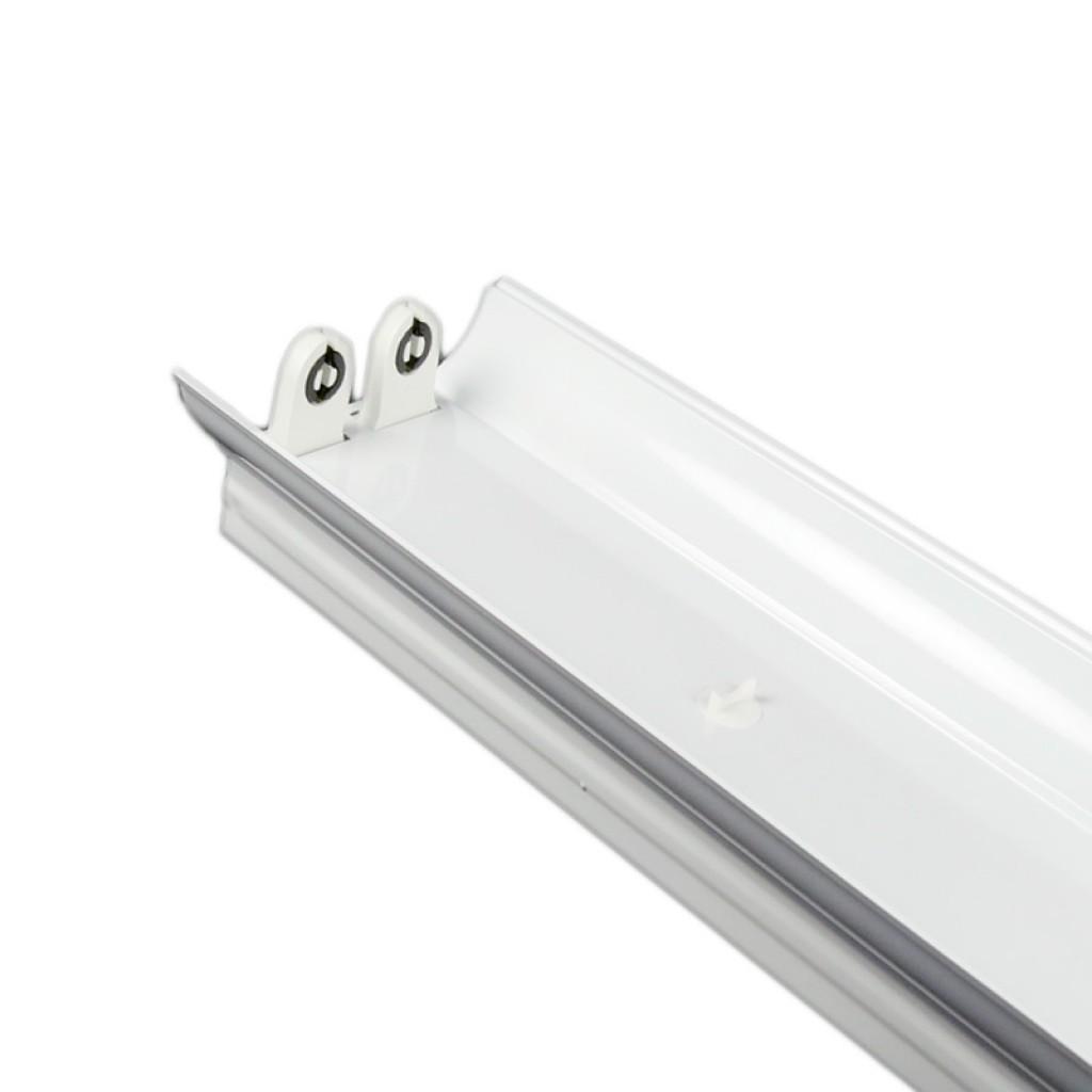 Soporte para 2 tubos led t8 120 cm con reflector - Lamparas de tubo led ...