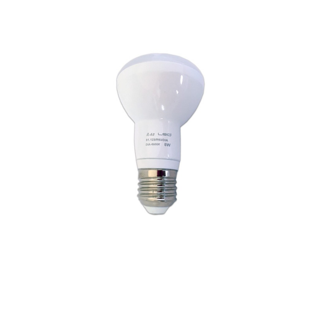 Bombilla reflectora led r63 e27 luz blanca y c lida 590 for Bombillas led para focos exterior
