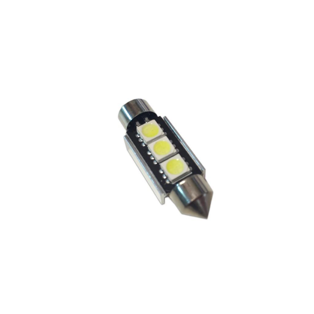 luz blanca coches Bombilla led canbus para feston C5W 36 8nw0POk