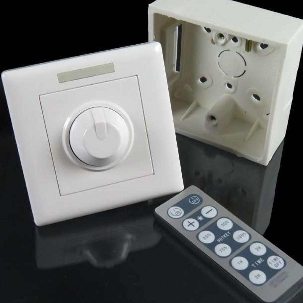 Regulador Led 300w Con Mando Para Instalaciones De Luz Led Regulables